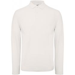 Vêtements Homme Polos manches longues B And C PUI12 Blanc