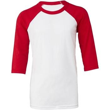Vêtements Femme T-shirts manches courtes Bella + Canvas BE218 Blanc / rouge