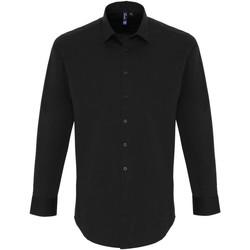 Vêtements Homme Chemises manches longues Premier PR244 Noir