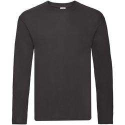 Vêtements Homme T-shirts manches longues Fruit Of The Loom 61446 Noir