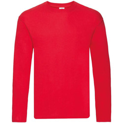 Vêtements Homme T-shirts manches longues Fruit Of The Loom 61446 Rouge