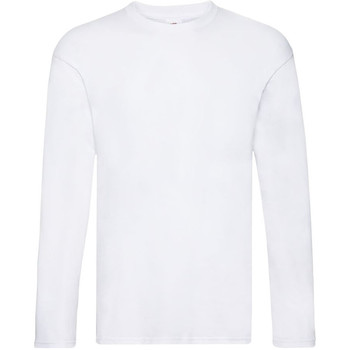 Vêtements Homme T-shirts manches longues Fruit Of The Loom 61446 Blanc