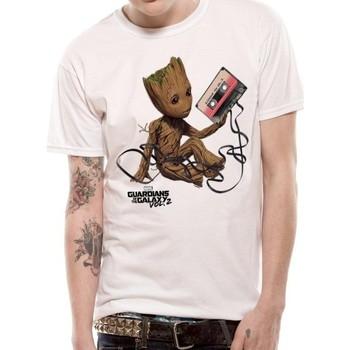 Vêtements T-shirts & Polos Guardians Of The Galaxy 2  Blanc
