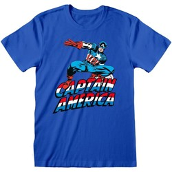 Vêtements T-shirts & Polos Captain America  Bleu