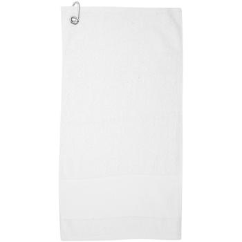Maison & Déco Serviettes et gants de toilette Towel City PC3892 Blanc