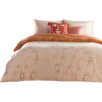 Maison & Déco Housses de couettes Furn Lit King Size Abricot