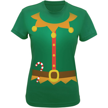 Vêtements Femme T-shirts & Polos Christmas Shop CS143 Vert