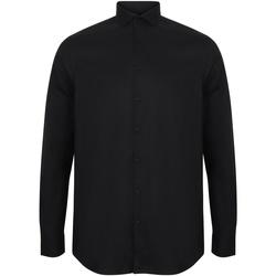 Vêtements Homme Chemises manches longues Henbury HB532 Noir