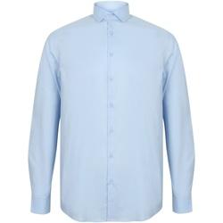 Vêtements Homme Chemises manches longues Henbury HB532 Bleu clair