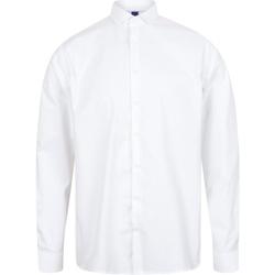 Vêtements Homme Chemises manches longues Henbury HB532 Blanc