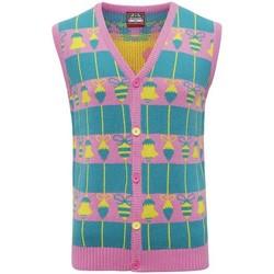 Vêtements Gilets / Cardigans Christmas Shop CJ009 Rose / vert