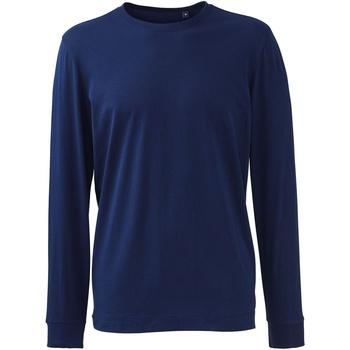 Vêtements Homme Polos manches longues Anthem AM011 Bleu marine