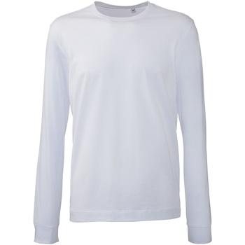 Vêtements Homme Polos manches longues Anthem AM011 Blanc