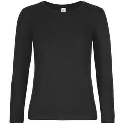 Vêtements Femme T-shirts manches longues B And C TW08T Noir