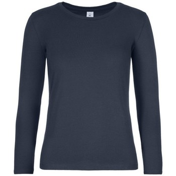 Vêtements Femme T-shirts manches longues B And C TW08T Bleu marine