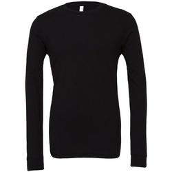 Vêtements T-shirts manches longues Bella + Canvas CA3501 Noir