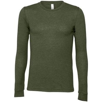 Vêtements T-shirts manches longues Bella + Canvas CA3501 Vert militaire