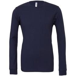 Vêtements T-shirts manches longues Bella + Canvas CA3501 Bleu marine