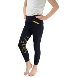 Vêtements Fille Leggings Hyperformance  Bleu marine / jaune