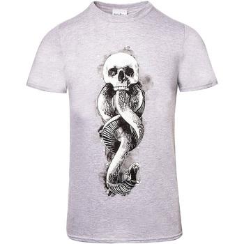 Vêtements T-shirts manches courtes Harry Potter  Gris