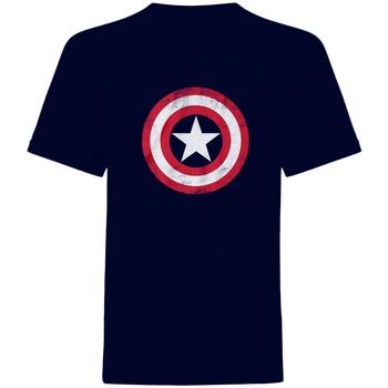 Vêtements T-shirts manches courtes Captain America  Bleu marine / rouge / blanc