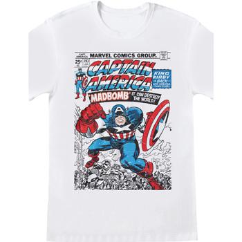 Vêtements T-shirts manches courtes Captain America  Blanc