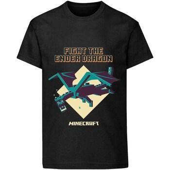 Vêtements Enfant T-shirts manches courtes Minecraft  Noir