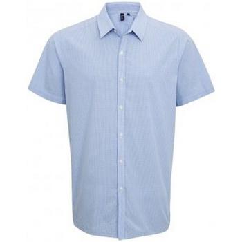 Vêtements Homme Chemises manches courtes Premier PR221 Bleu clair / blanc