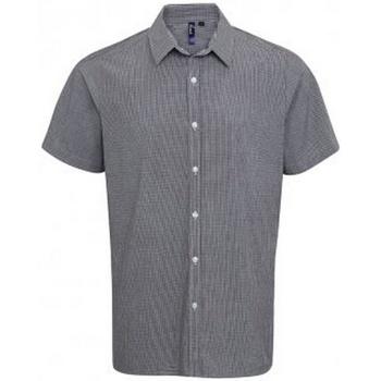 Vêtements Homme Chemises manches courtes Premier PR221 Noir / blanc