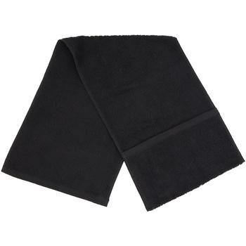Maison & Déco Serviettes et gants de toilette Towel City PC3565 Noir
