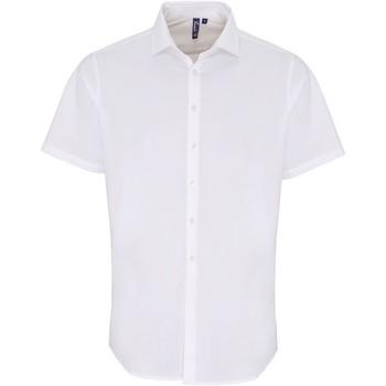 Vêtements Homme Chemises manches courtes Premier PR246 Blanc