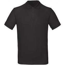 Vêtements Homme Polos manches courtes B And C PM430 Noir