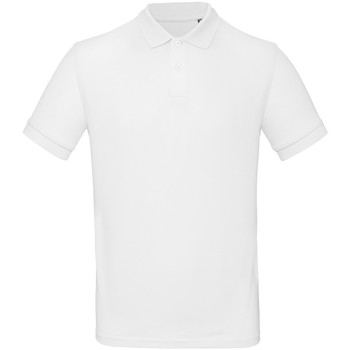 Vêtements Homme Polos manches courtes B And C PM430 Blanc
