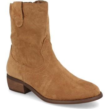 Chaussures Femme Bottines Buonarotti 2A-1496 Camel