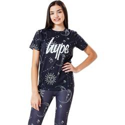 Vêtements Enfant T-shirts manches courtes Hype  Noir / blanc