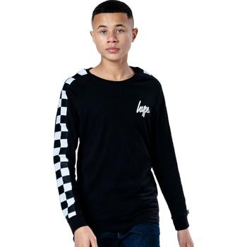 Vêtements Enfant T-shirts manches longues Hype  Noir / blanc