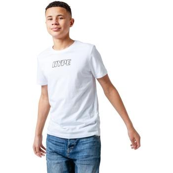 Vêtements Enfant T-shirts manches courtes Hype  Blanc