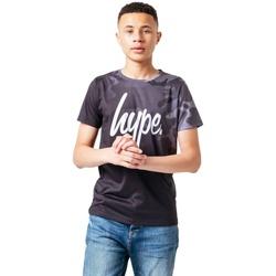 Vêtements Enfant T-shirts manches courtes Hype  Noir / gris / blanc