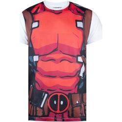 Vêtements Homme T-shirts manches courtes Deadpool  Blanc / rouge