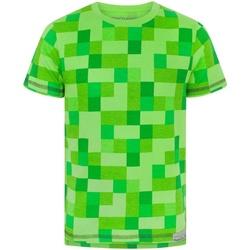 Vêtements Garçon T-shirts manches courtes Minecraft  Vert