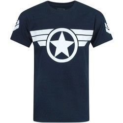 Vêtements Homme T-shirts manches courtes Captain America  Bleu marine