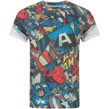 Vêtements Homme T-shirts manches courtes Captain America  Multicolore