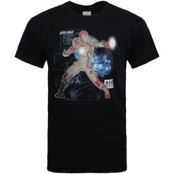 Vêtements Homme T-shirts manches courtes Iron Man  Noir