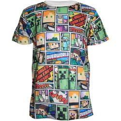 Vêtements Garçon T-shirts manches courtes Minecraft  Multicolore