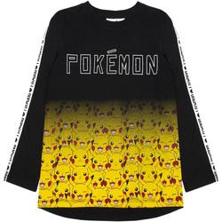 Vêtements Garçon T-shirts manches longues Pokemon  Noir / jaune