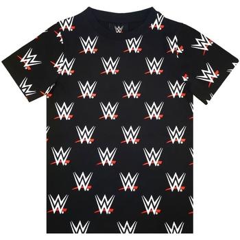 Vêtements Garçon T-shirts manches courtes Wwe  Noir