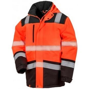 Vêtements Vestes Result R475X Orange fluo / noir