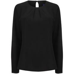 Vêtements Femme T-shirts manches longues Henbury HB598 Noir