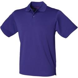 Vêtements Homme Polos manches courtes Henbury  Violet