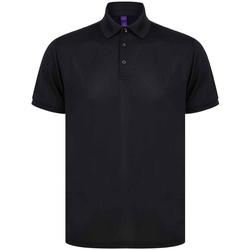 Vêtements Homme Polos manches courtes Henbury H465 Noir